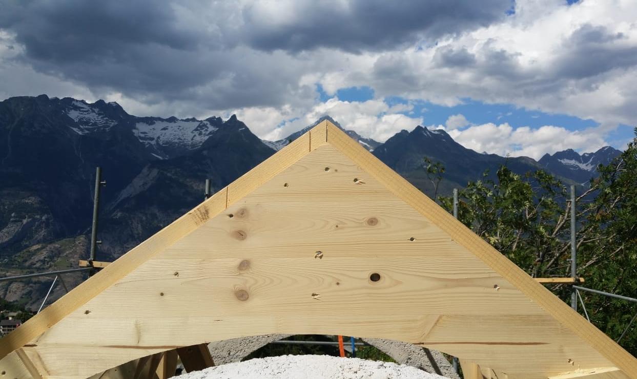 Bietschhorn: Ausrichtung und Dachneigung