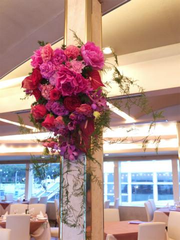 フラワーアレンジメント 柱装飾・装花