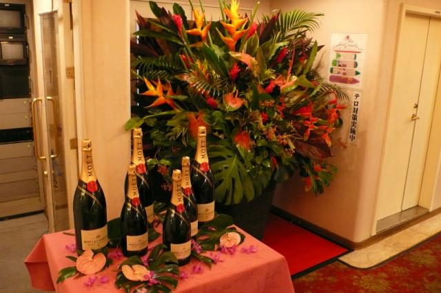 パーティ装花 入口 活け込み