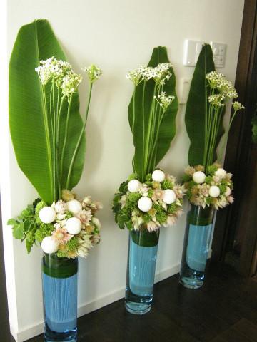 個人宅 パーティ装花