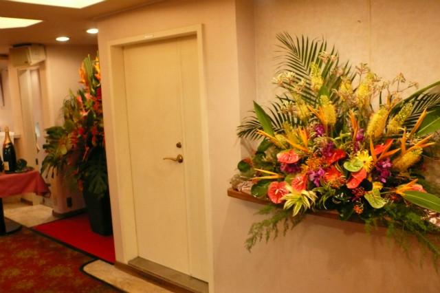 パーティ装花 壁装飾 南国