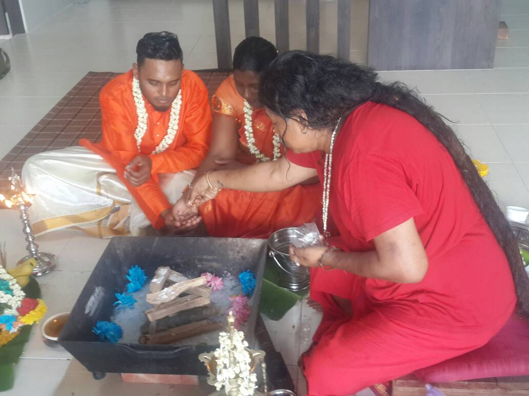 Yagna Puja for The New Home. This Puja is to seek Maa´s Blessings on the couple's new home