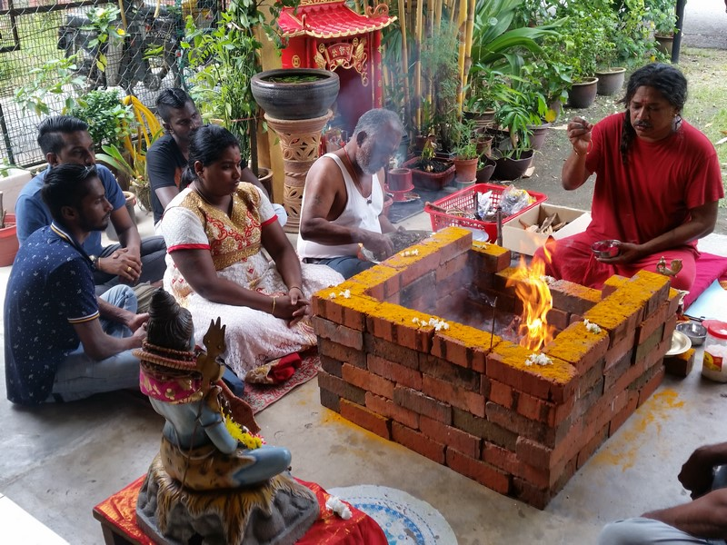 Langes Leben/Long life Rudra Chamakam Yagna Puja for a family from Fraser Hills in Malaysia