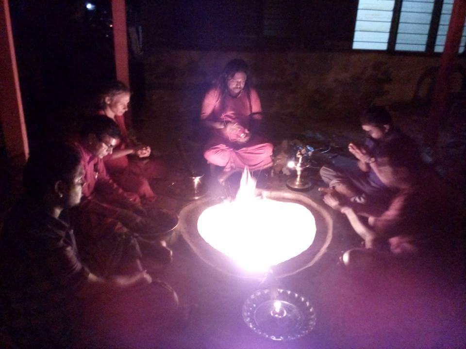 Yoni Kundalam Puja with disciple and devotees