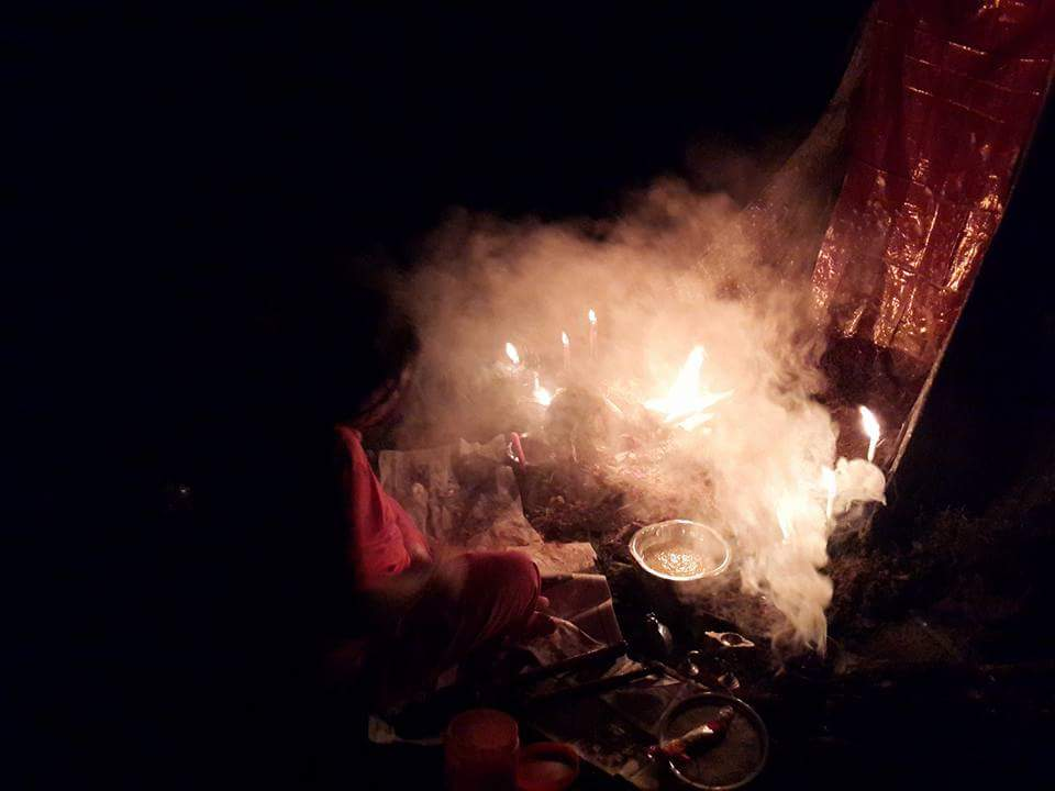 Puja of Boothas - this Puja is dedicated to Guardian Spirits who resides in the forest requesting them to protect all who works in the forest