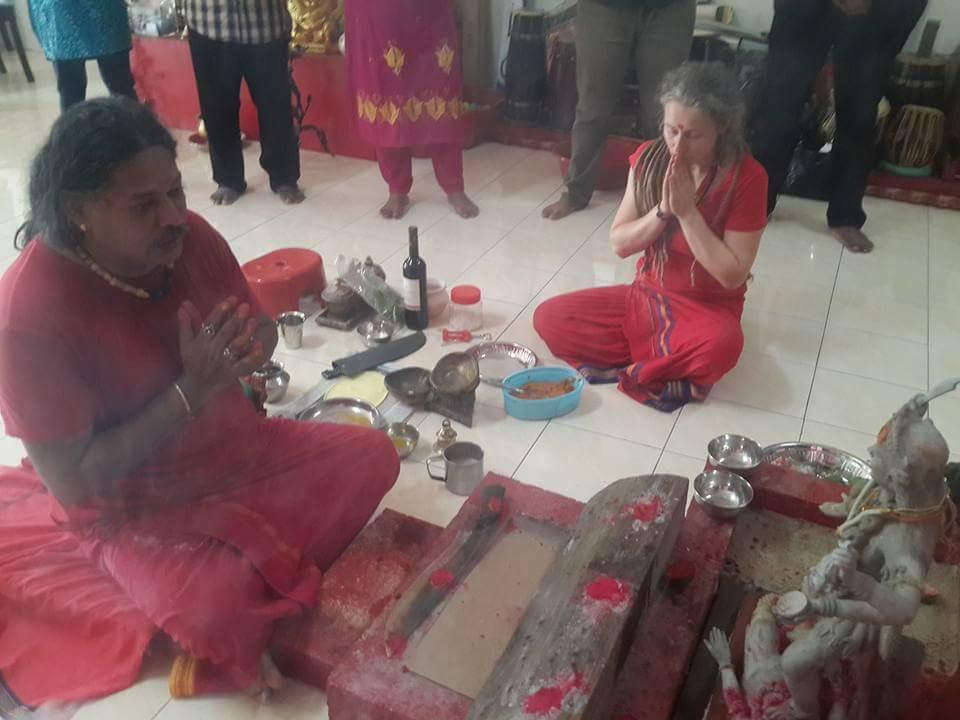 Prana Pratishtha Puja for Raktha Kali Maa at Gurudev Aghori Baba's Ashram in Malaysia