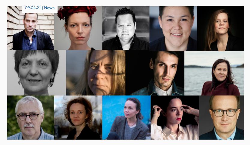 Übersicht der Nominierten für den Literaturpreis des Nordischen Rates 2021. Bild von Nordischer Rat.