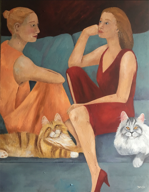 Gemeinsam  |  Mixed Media auf Leinwand  |  70 x 90 cm  |  2019