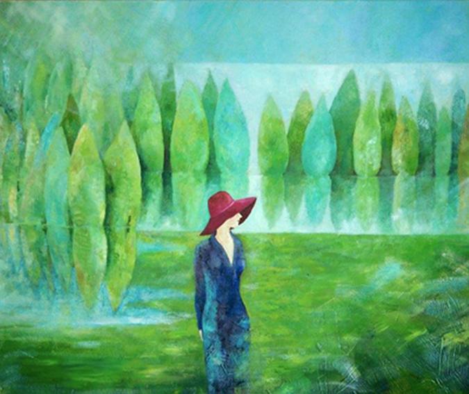 Aufgetaucht  |  Mixed Media auf Leinwand, 120 x 100 cm, 2012