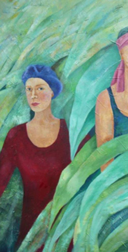 Im Blätterwald | Mixed Media auf Leinwand | 60 x 120 cm | 2015