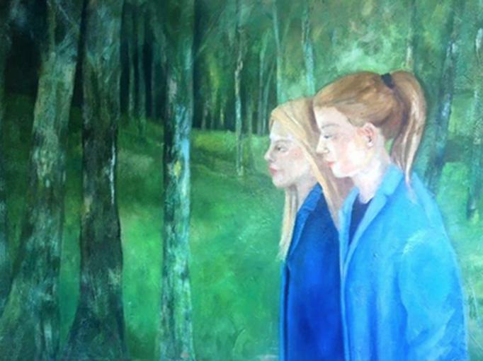 Zusammen  |  Mixed Media auf Leinwand  |  70 x 100 cm  |  2016