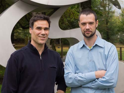 Chorleiter Patrick Ryf und Pianist Jean-Jacques Schmid im Oktober 2011 (Foto: Rolf Fries)