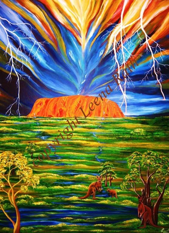 Uluru - Ayers Rock 710 x 976 - verkauft (als Druck erwerblich)