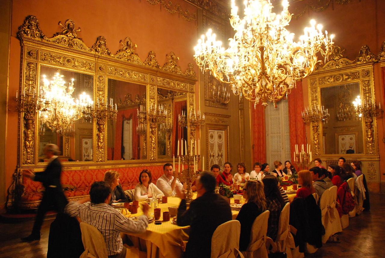 2009. Cena de lujo en Florencia