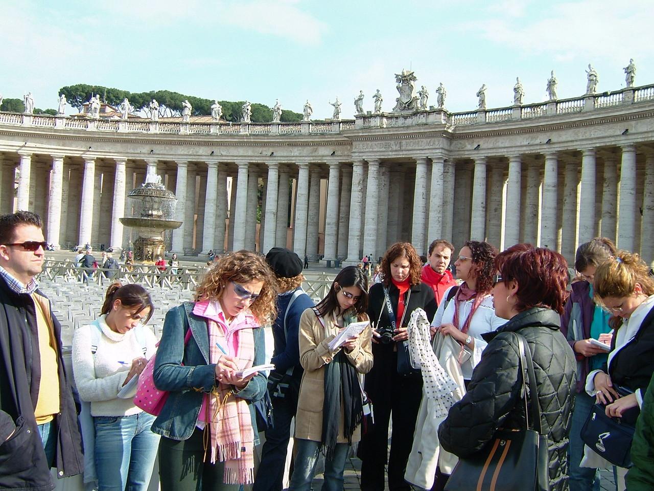 2003. Palza San Pedro. Roma