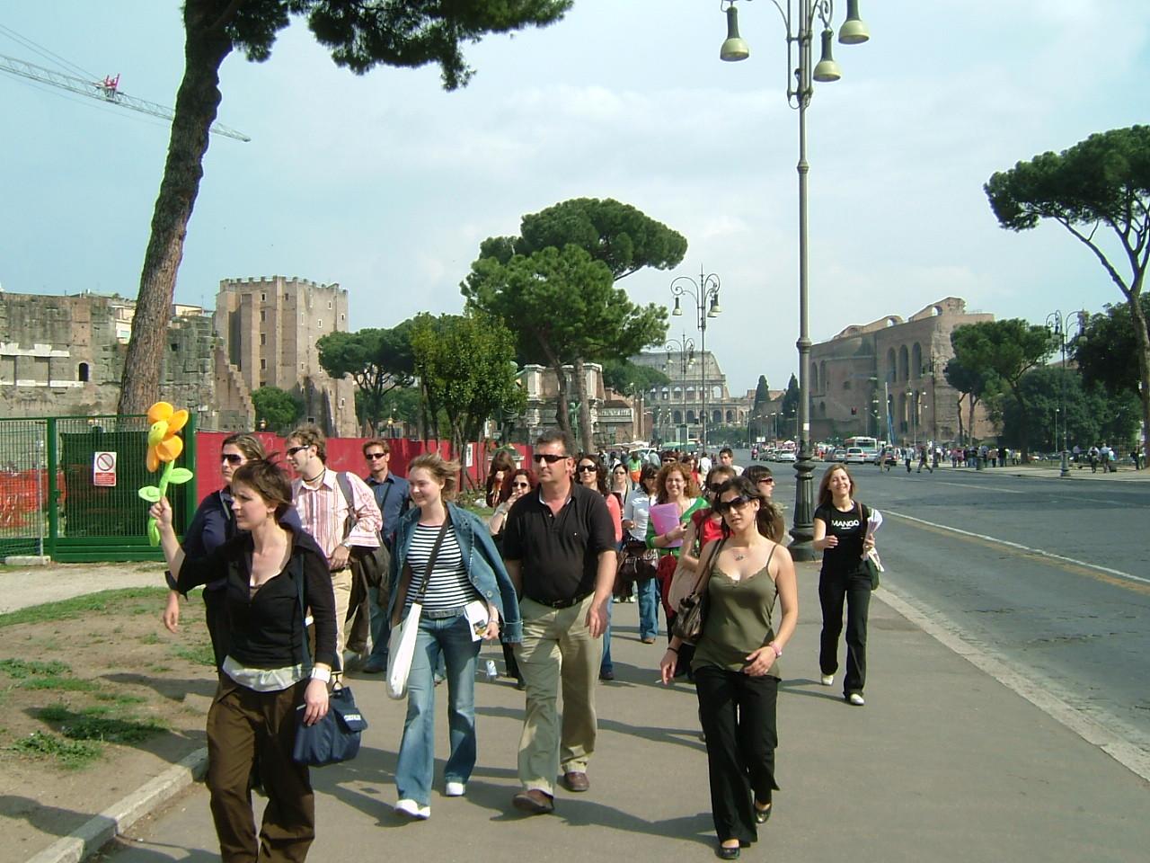2005. Recorrido por los foros Roma.