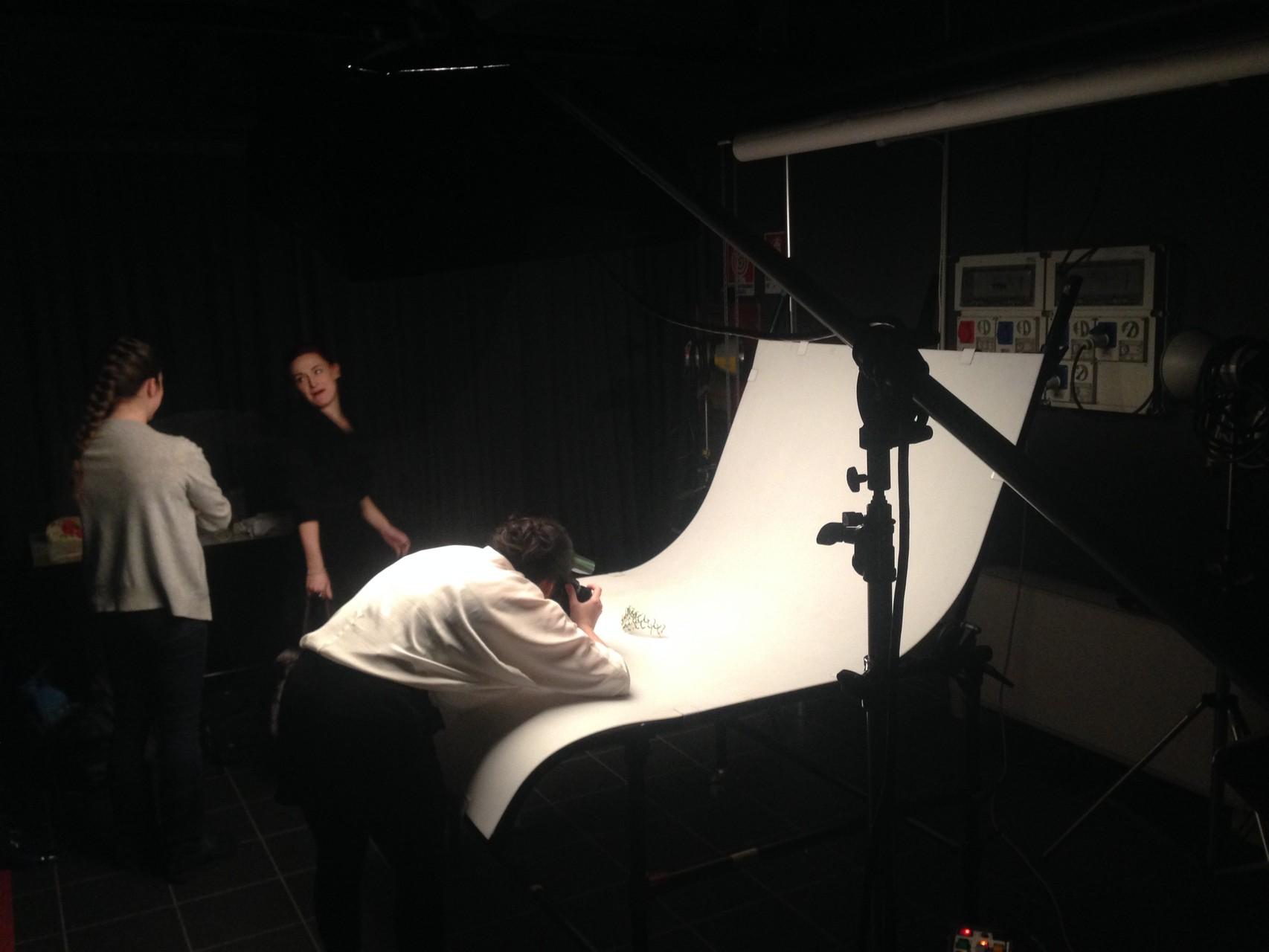 Backstage del servizio fotografico del primo workshop