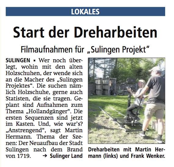 Sulingen Kreiszeitung, 25.07.2018