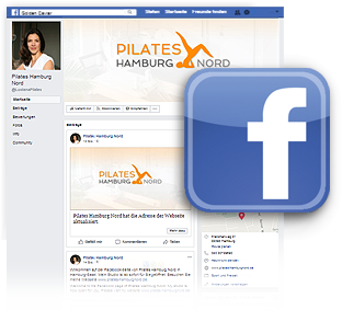 Grafik: Webscreen der Facebookseite von PILATES Hamburg-Nord