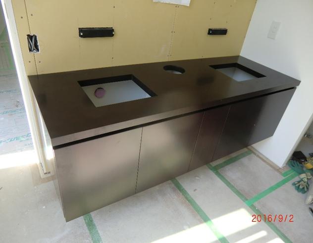 洗面化粧台 タモウレタン塗装 W1800×D600×H730 ¥263,000税別
