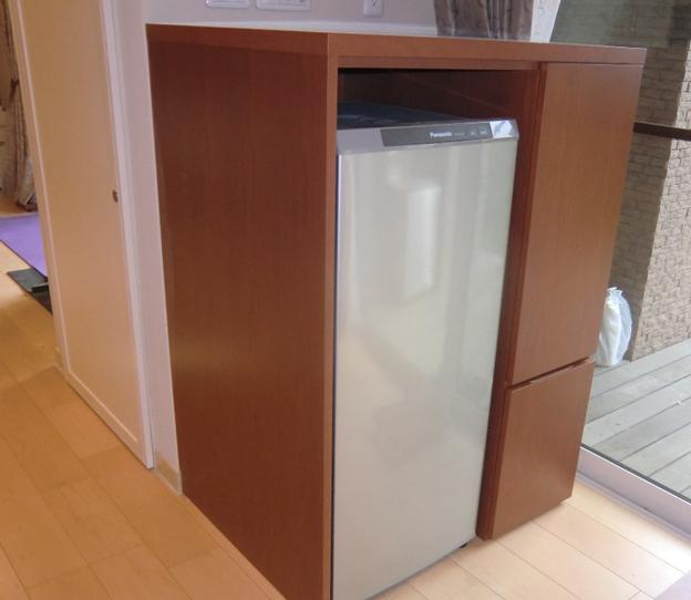 冷蔵庫ワイン チェリーウレタン塗装 W900×D720×H1300 ¥311,000税別