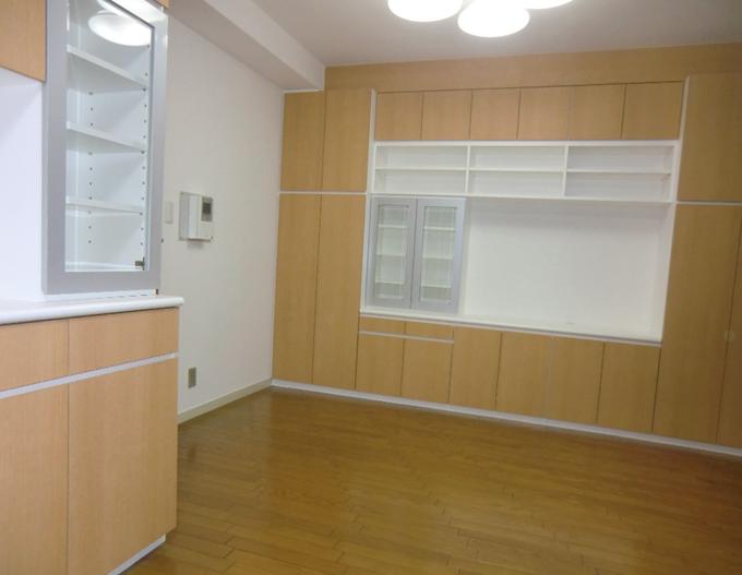 食器棚+TV台収納 メラミン ¥880,000税別