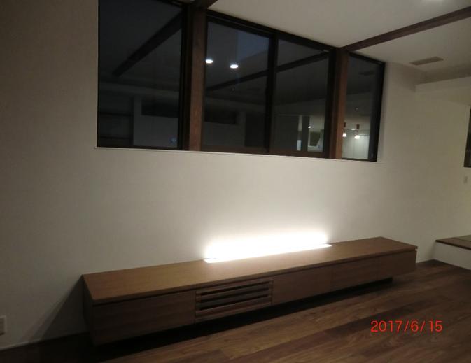 TV台 ウォールナット オイル塗装 W3600×D500×H450 ¥389,000税別