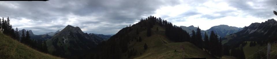 Panorama Pays d'Enhaut-Hochmatt-Oberrügg-Schafberg-Gastlosen