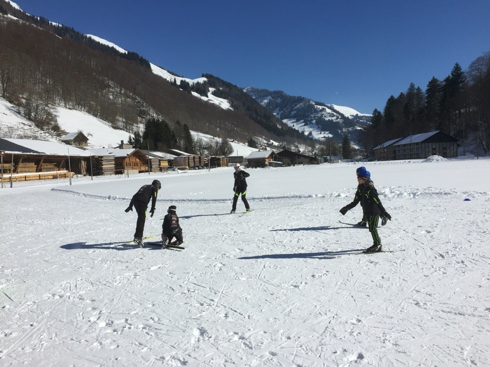 Sporttag Schule Jaun 2016, Gruppe Launlauf