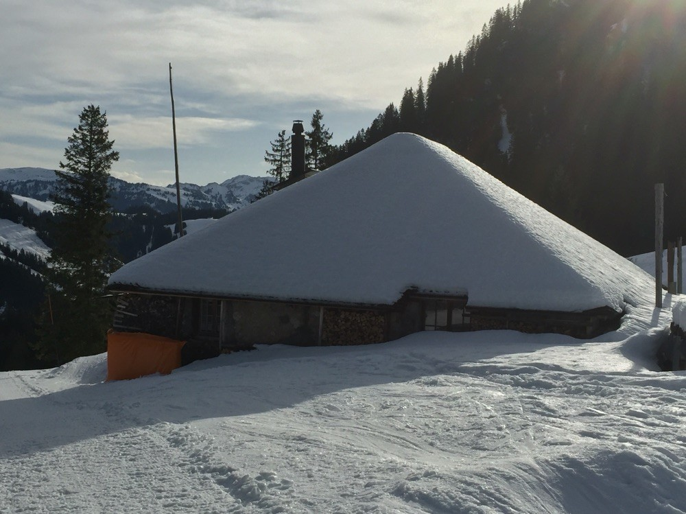 Gesicherte Berghütte Schortritzen