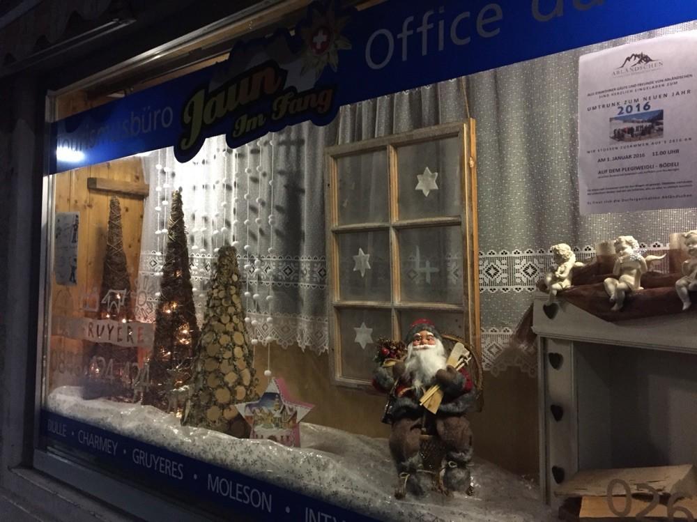 Adventsfenster 2015 Jaun Tourismus, Haupstrasse 411, Jaun