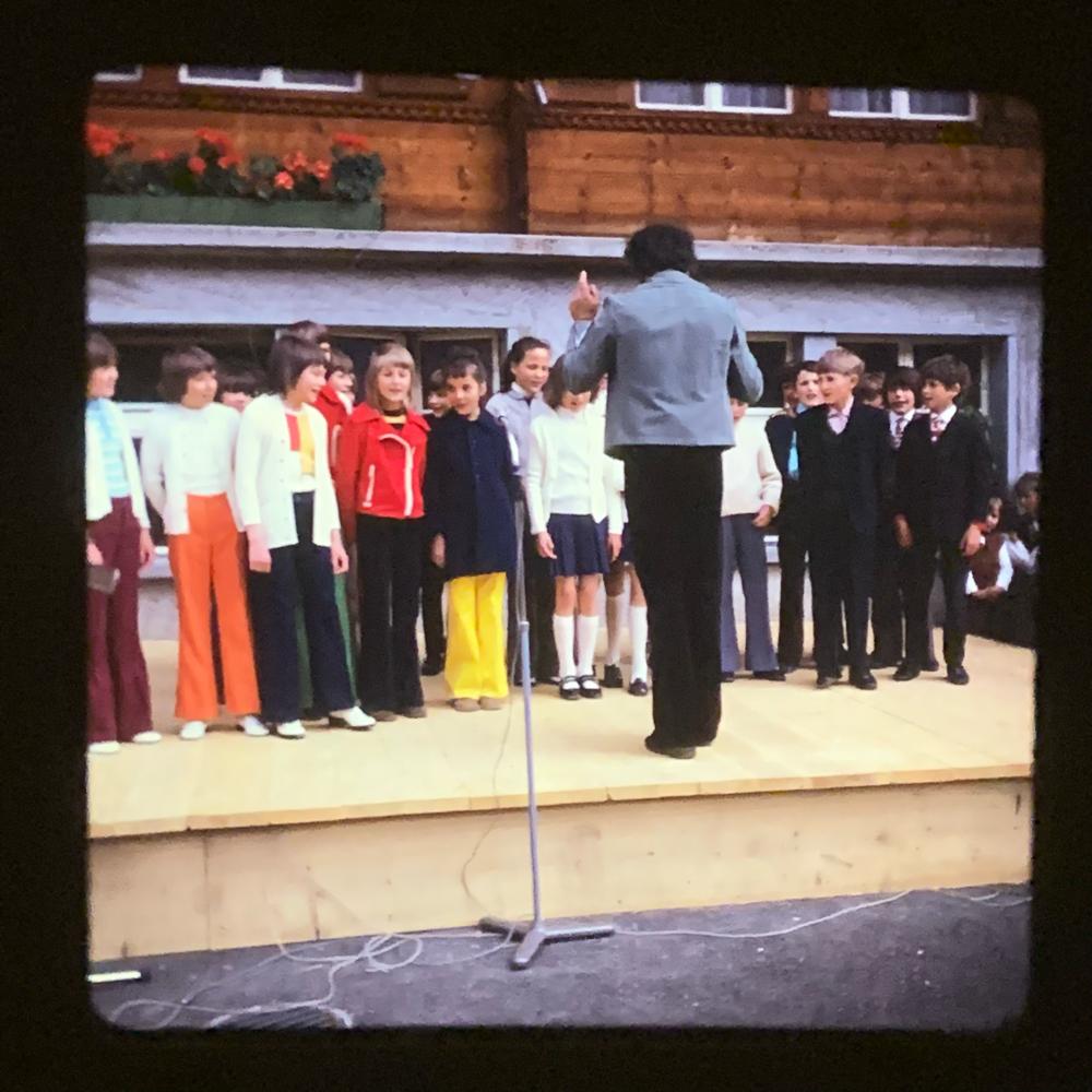 Einweihungsfeier neues Schulhaus 1973