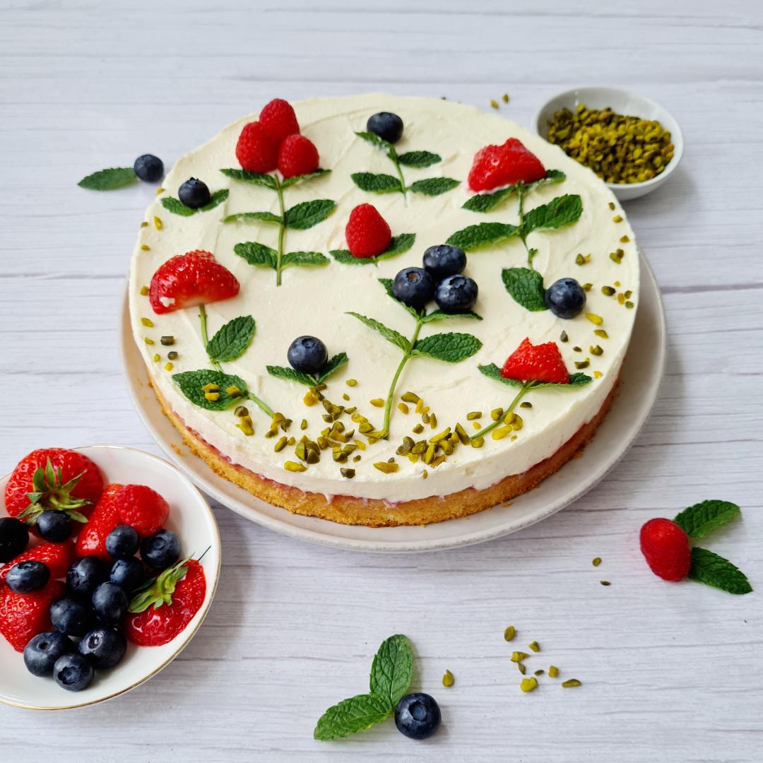 Mascarpone-Topfen-Torte ohne Gelatine!