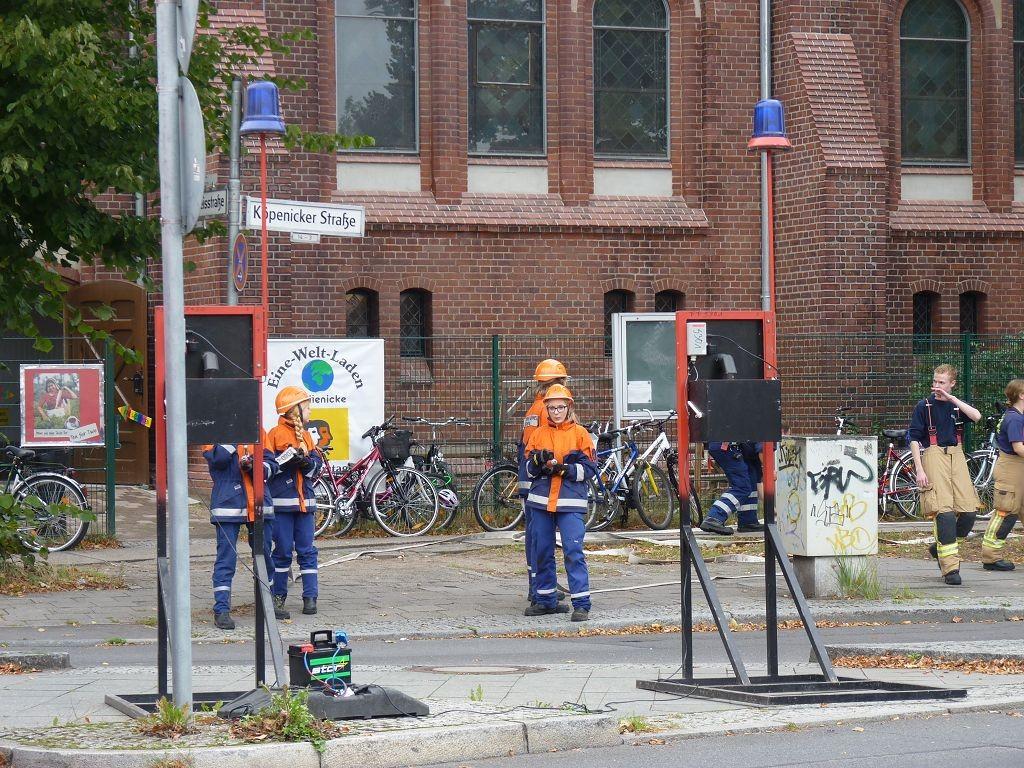 Löschaktion der Feuerwehr