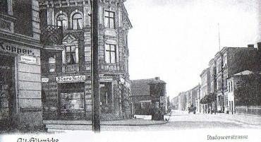 Früher : Kreuzung Köpenicker Str./ Rudower Str. um 1900 später genannt das Taubenhaus