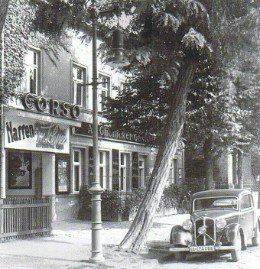 Früher : Kino Corso und Alt Glienicker Gaststätte 1938  in der Friedrichstr.