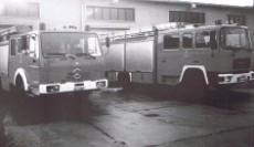 Löschfahrzeuge in der neuen Feuerwache