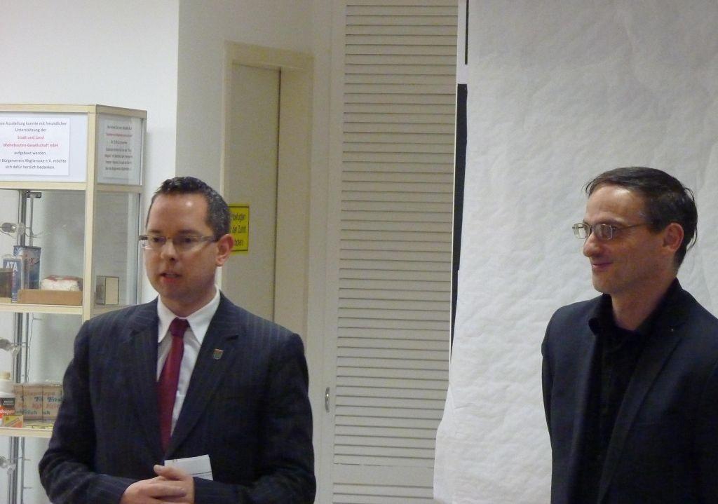 Links: Bezirksbürgermeister von Treptow-Köpenick Herr Oliver Igel