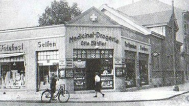 Früher : Vor dem 2. Weltkrieg  (Kreuzung Köpenicker Str / Ecke Rudower Str)