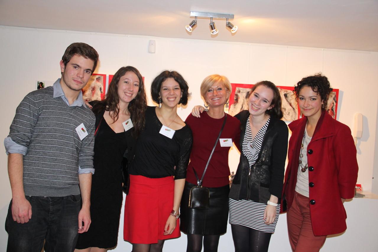 Valentin, Lara, Soumitra, La Présidente, Amélie et Séverine