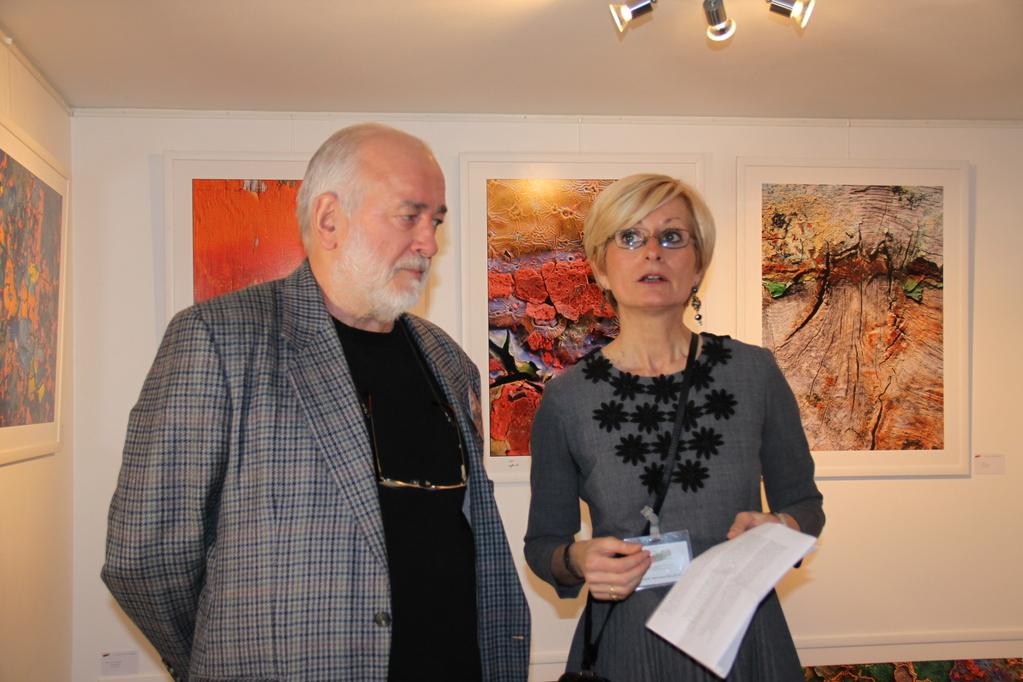 La présidente et Claude Guillemet, photographe