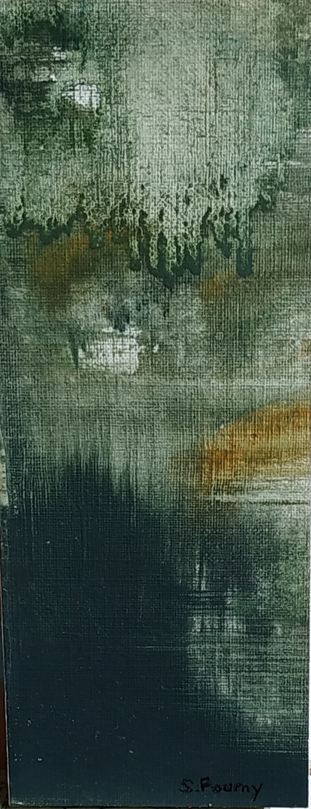 N°37 : 18 cm X 7 cm - huile sur papier