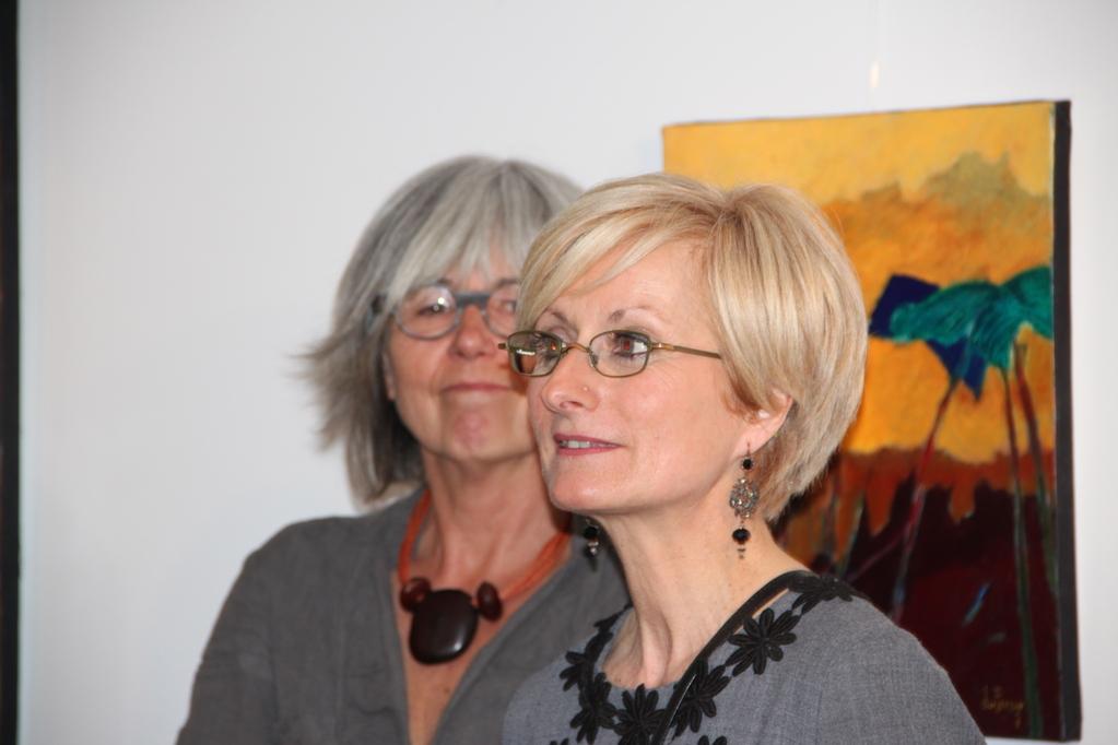 La présidente et Brigitte Roussel