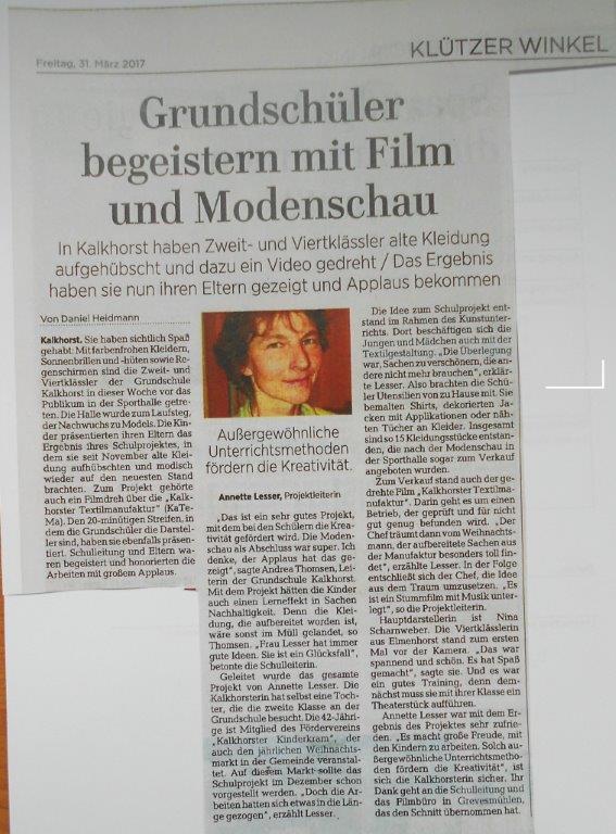 Ostsee Anzeiger, 31. 03. 2017