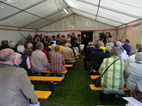 die Messe ist gut besucht