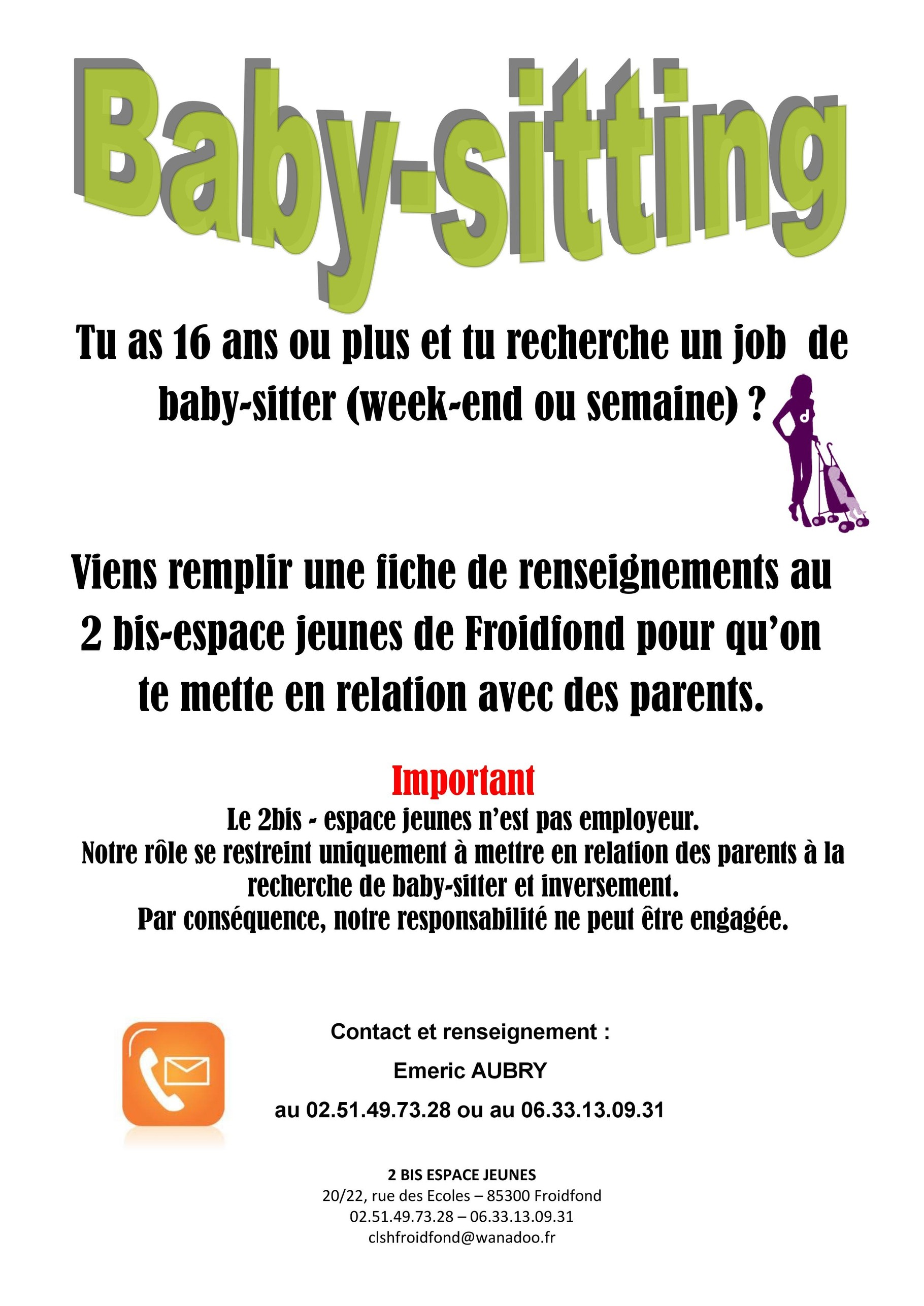 Baby-Sitting - Froidfond.fr
