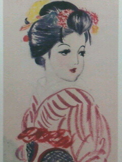 母が少女時代に描いた絵