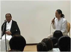 パネルディスカッション「水の心とまつりの心」柿坂宮司と岡野弘幹さん