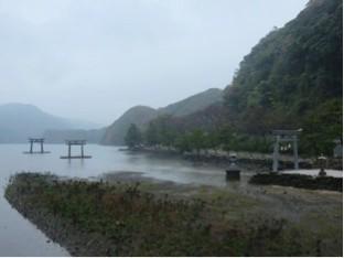 和多都美神社の海上鳥居