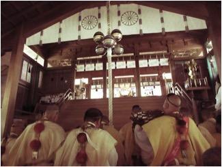 7月17日例大祭における聖護院門跡による般若心経読経